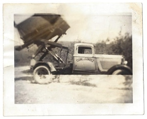 old coal delivery truck