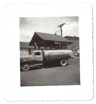 old dodge oil delivery truck